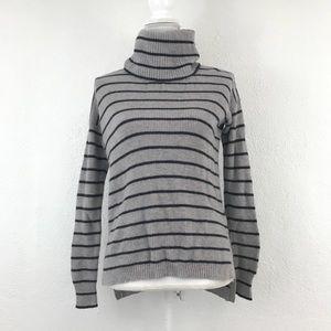 Madwell SM Rib Turtleneck Sweater Stripe E3234**